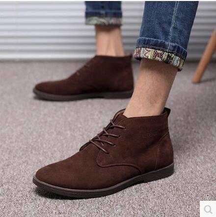 Women Ladies Soft Flat Ankle Martin Chaussures Femme Bottes en dentelle en cuir de daim A1 Y5KDJwWO