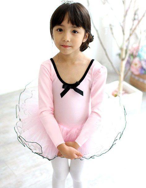 white Long sleeve girl ballet skirt,Children ballet skirt,tutu dance dress,kid dancing dress,baby Dance and leisure