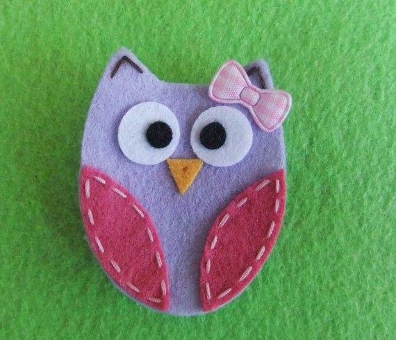 felt owl kid craft.