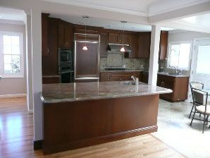 27 best images about kitchen islands with support on - Kitchen island with post ...