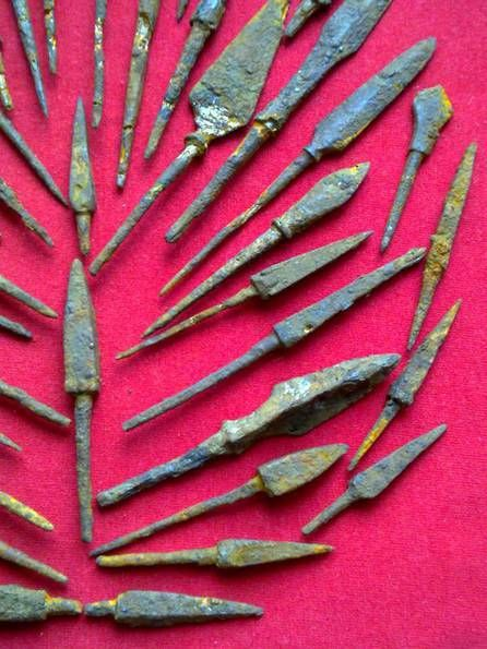 arrowheads , 11-16 century , iron, original, Eastern Europe