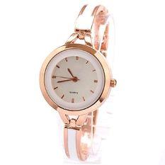 E&E Fashion Ladies Casual Bracelet Quartz Wrist Watch SY-7 (Golden)