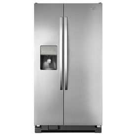 Whirlpool�25.4-cu ft Side-by-Side Refrigerator (Monochromatic Stainless Steel) ENERGY STAR