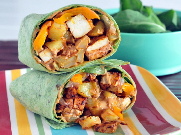 Chipotle Tofu Potato Burrito by Spabettie