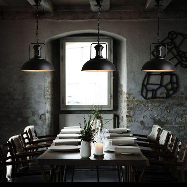 Loft RH Entrepôt Industriel Pendentif Lumières Pays D'amérique Lampes D'éclairage Cru pour Restaurant Chambre Décoration de La Maison