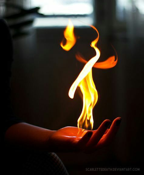 fire, power, and hand image