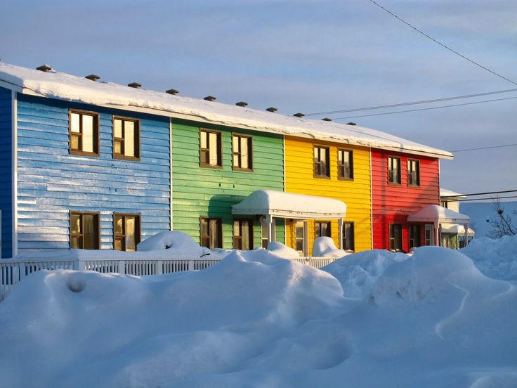 Houses in Inuvik at http://naptimequilter.blogspot.com/2014/03/inuvik-part-2.html