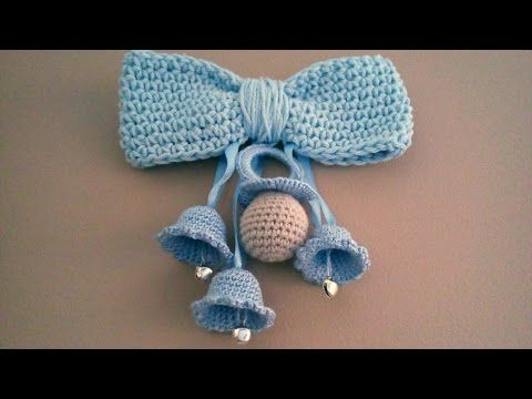 Campanas y chupete a crochet tutorial. - YouTube