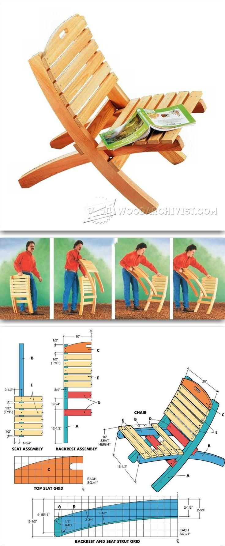 Folding Patio Chair Plans - Outdoor Furniture Plans and Projects | WoodArchivist.com