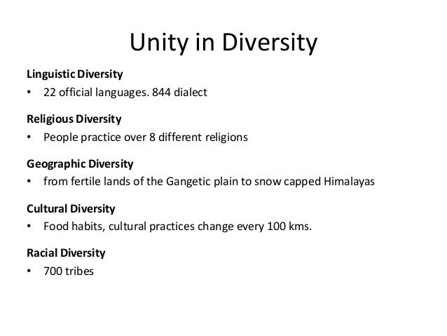 short essays on unity in diversity Unity in diversity essay no 01 india is a big country her civilization is around 6000 years old she has given birth to the world's most important cultures and religious.