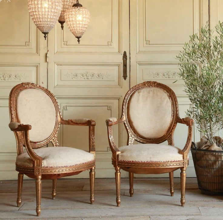 One of a Kind Antique French Shabby Gilt Louis XVI French Style Upholstered  Armchairs - 103 Best Antique French Furniture Images On Pinterest French Style