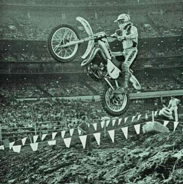 Bob Hannah Vintage Motocross Poster Art Print