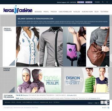 TerasFashion - Desain Toko Online