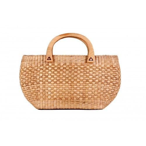 Gorgeous Beige Bamboo Cane Hand Bag
