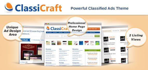 ClassiCraft – Powerful Responsive Classified Ads Listing WordPress Theme