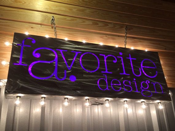 Custom Logo LED Marquee Hanging Sign wit remote - 46 x 18. I can do this with any logo or saying that you want to use. The LED controls are from a