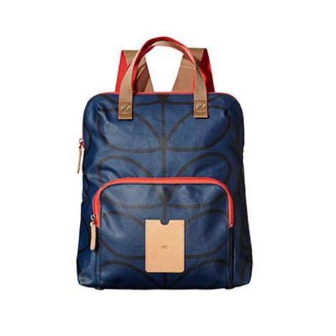 Orla Kiely ETC Backpack Twilight Blue Giant Linear Stem