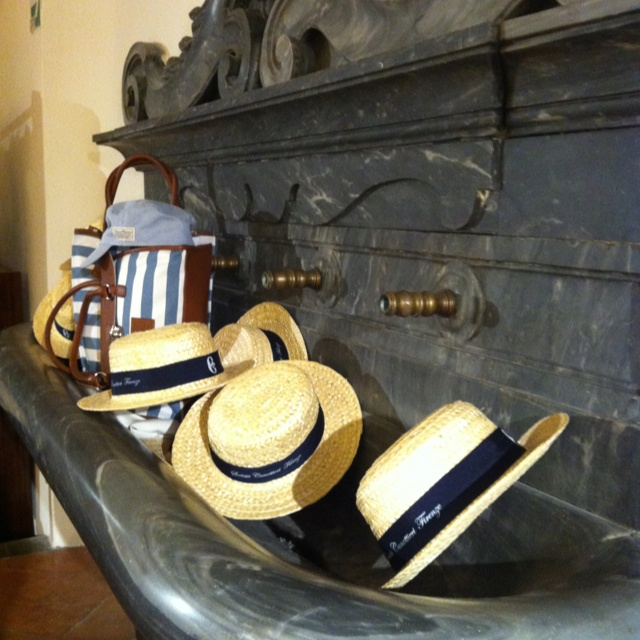 Conte of Florence spring summer 2013 collection #hat #straw #man #rowing #summer #fashion