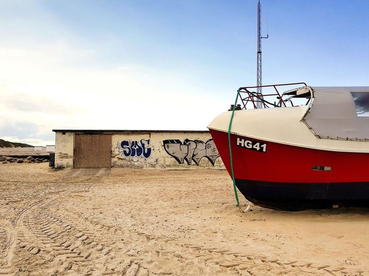 sand, beach, day, outdoors, transportation, no people, sky, field, nature, nautical vessel, moored, clear sky, architecture