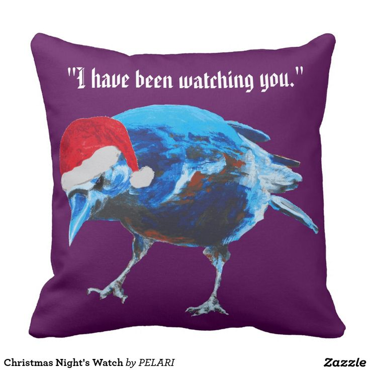 Christmas Night's Watch Throw Pillows