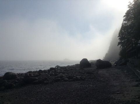 Foggy beach, Sunshine Coast BC, Canada