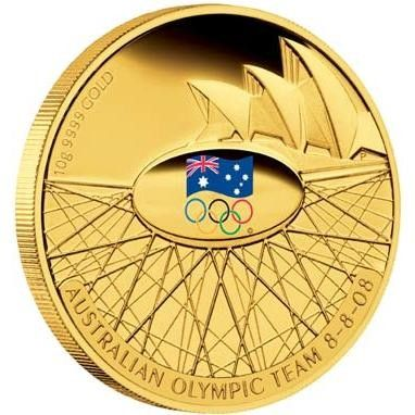 2008 Australian Olympic Team 10g Gold Proof Coin AC