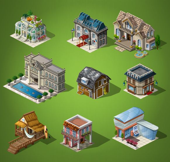 Megacity - Isometric Illustration by Santiago Padella, via Behance