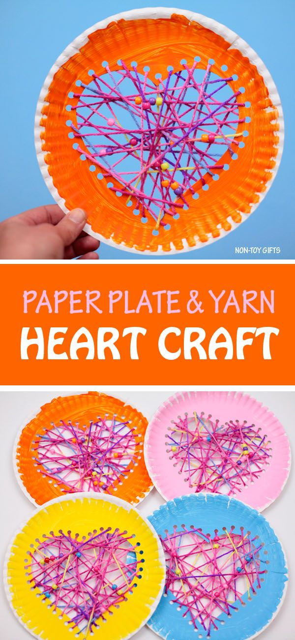 Paper plate hearts – Valentine's Day craft