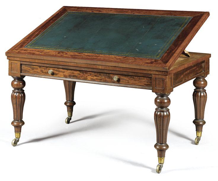 A GEORGE IV MAHOGANY ARCHITECT`S TABLE  CIRCA 1830