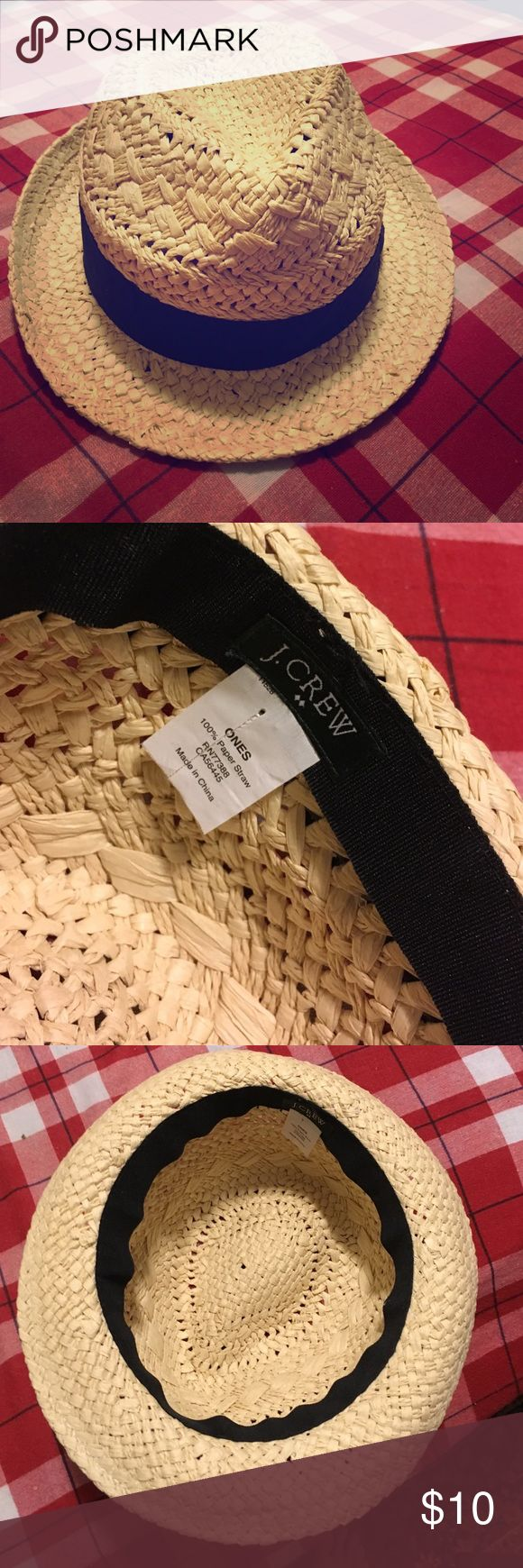 NWOT JCREW STRAW FEDORA Bought with the intention of it being a beach hat, just never wore it. J. Crew Accessories Hats