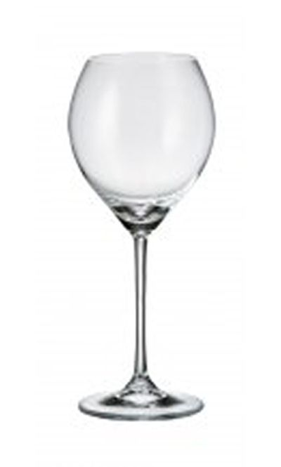The Cecilia wine glass features a rounded bowl and a long stem for the newest trend in wine glasses.  Set of 6 glasses Available in white or red sizes White Wine glass holds 240 ml (about 8.1 ounces) Red Wine glass holds 470 ml (about 15.9 ounces) Lead free crystal, enriched with titanium for added strength and scratch resistance Dishwasher safe