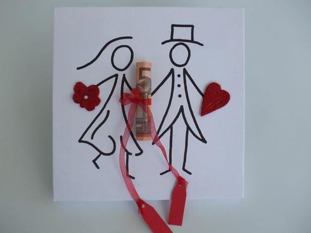 Keilrahmen Hochzeit Geldgeschenk