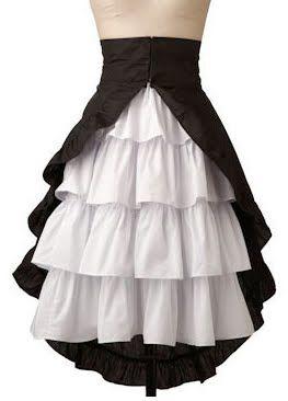 Pirate skirt (the over-skirt in red to go over my black ruffled skirt)