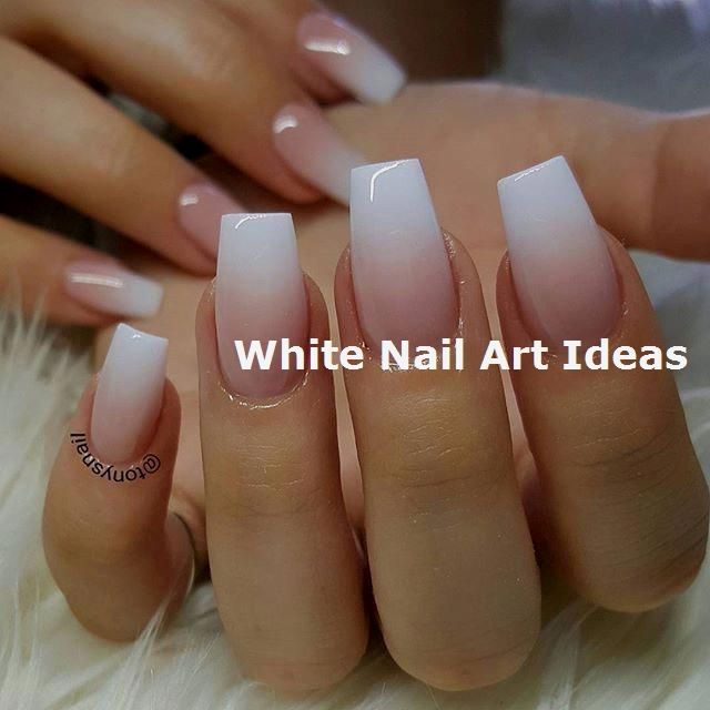 30+ Simple & Trending White Nail Design Ideas 3 #nailartideas #naildesign