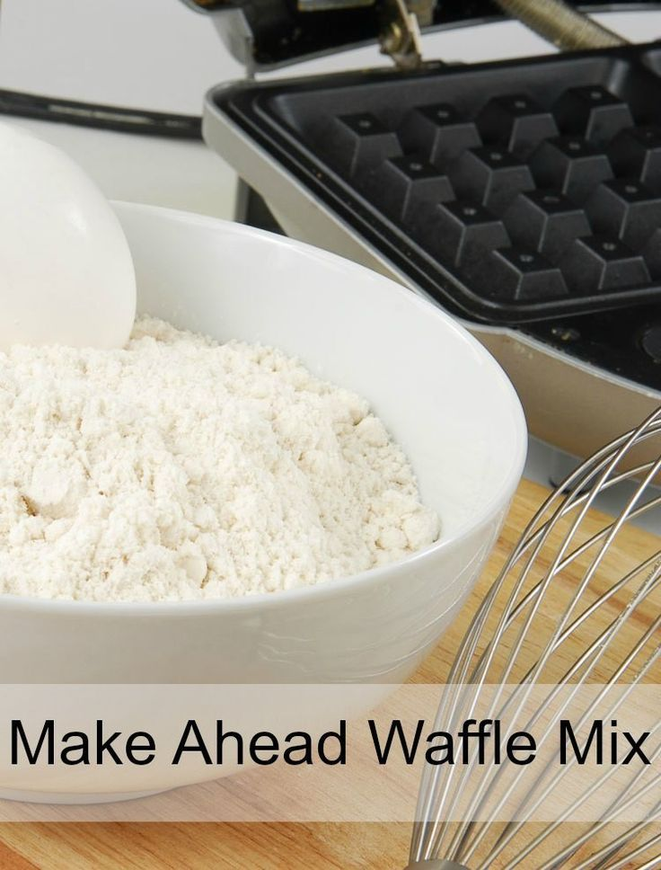 make ahead waffle mix. Make Ahead Waffle Mix recipe is just what you need for busy morning meal solutions. This waffle mix saves you time and is a healthier-for-you homemade waffle mix recipe.