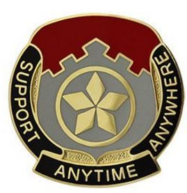 501st Finance Battalion Unit Crest (Support Anytime Anywhere)