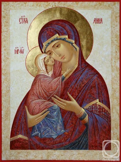 Chernjavskaja Hope.  Icon of St. Anna with Child Saint Mary