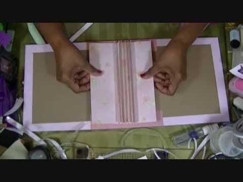 Making a Mini Album Part #1 (The Covering) - YouTube Kathy Orta binding system. A good go to for me when need the info.