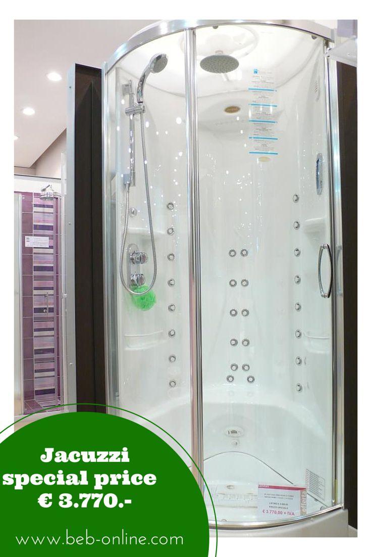 JACUZZI Box doccia FLEXA THEMA ROUND FINITURE CROMO - PREZZO DI LISTINO € 6.909.-                           L.90xL.90xH.227 cm  Miscelatore monocomando, soffione a pioggia, doccia a cascata, doccetta manuale, saliscendi, vertical Shower 16 jets, doccia lombare/verticale 4 getti, doccia cervicale/verticale 4 jets, doccia gambe 2 getti sequenziale, Audio System / Radio, tettuccio - il prezzo s'intende franco ns magazzino, iva esclusa - disponibilità immediata