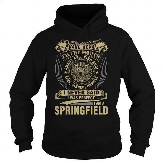 SPRINGFIELD - #mens shirts #sweatshirts for women. GET YOURS => https://www.sunfrog.com/Names/SPRINGFIELD-119122751-Black-Hoodie.html?60505