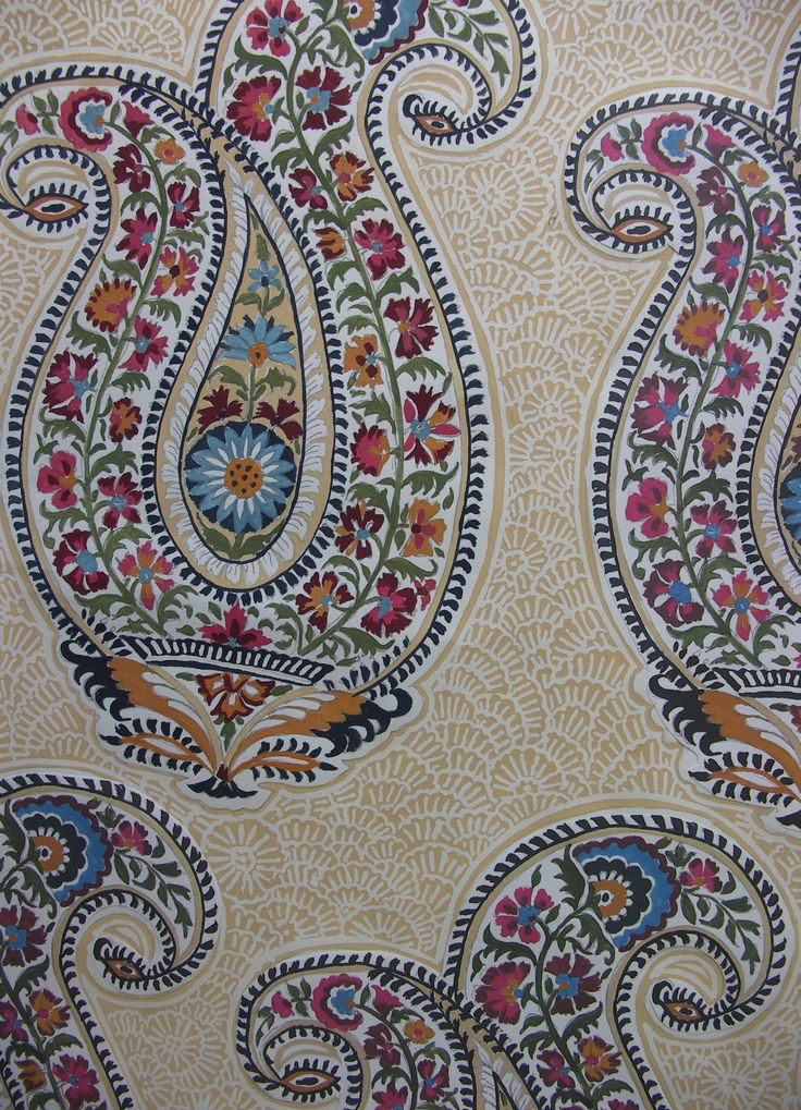 russian paisley, paisley,multi colored,paisley design,wood block print design,giant paisley,