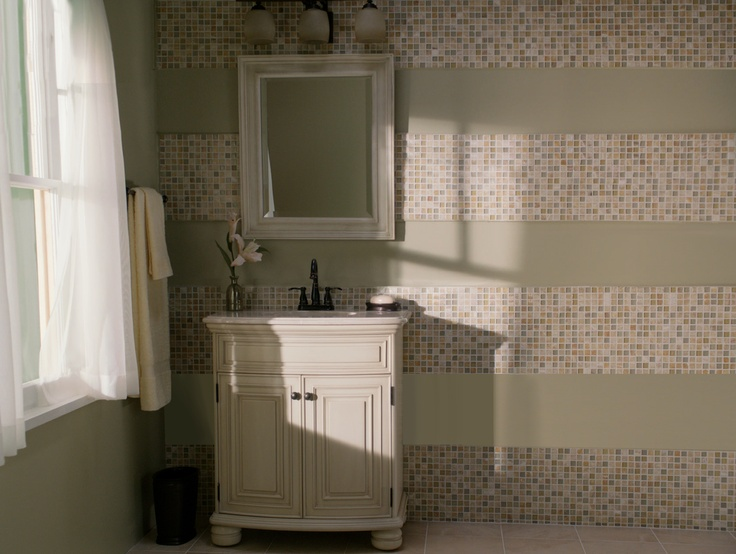 Z Gallerie Bathroom Use Mosaic Tile To Create A Stripe  : 071bab5828c5e13aafdbcee48f64d772 ideas for bathrooms bathroom ideas from homedesignimage.net size 736 x 554 jpeg 120kB