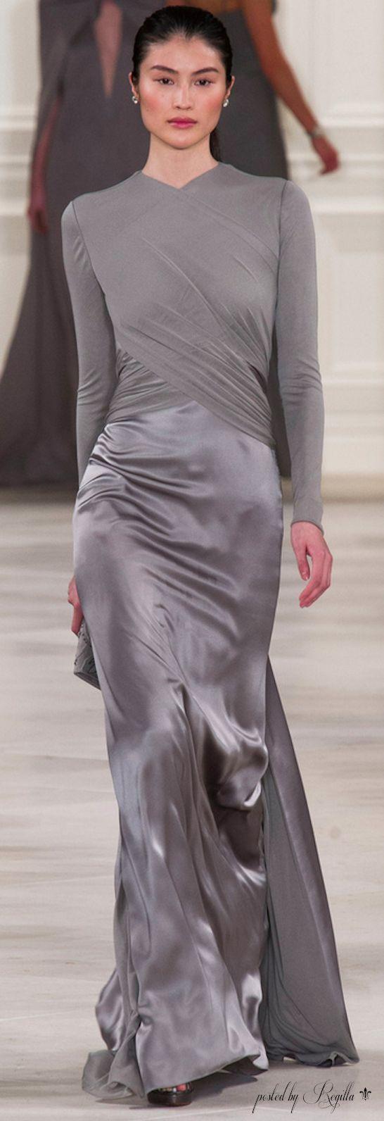 Ralph Lauren ~ Evening Gown, Silver Grey
