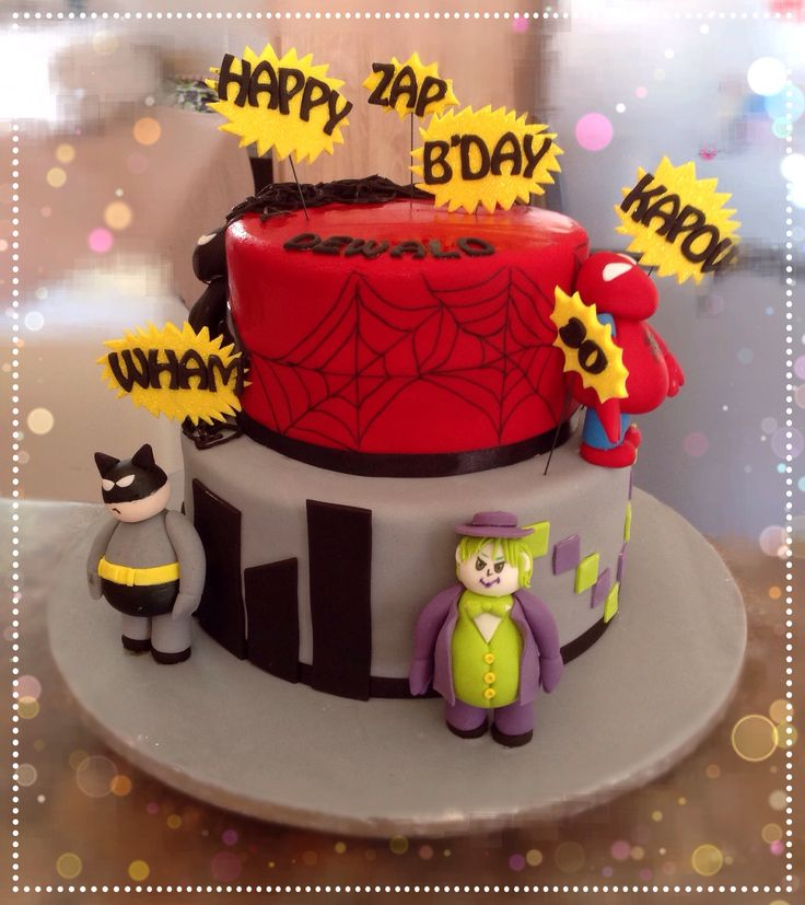 Hero and villian cake