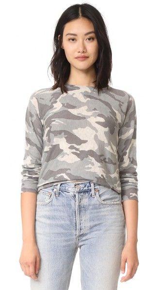 ZADIG & VOLTAIRE Camouflage Cashmere Sweater. #zadigvoltaire #cloth #dress #top #shirt #sweater #skirt #beachwear #activewear