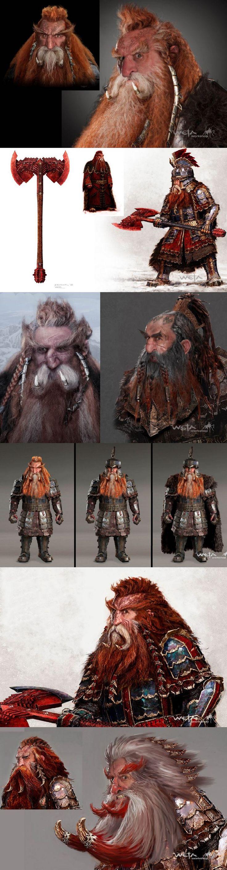 BOTFA Dain concept art / The Hobbit: The Battle of the Five Armies Chronicles: Art & Design