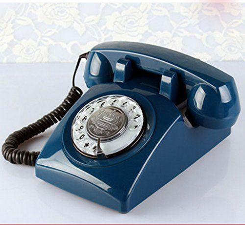 Lilys-uk Liebe Telefon Das neue High-End-europ�ischen Stil antiken Telefon Dreh kreative Scheibe retro Hause Festnetztelefonfestnetz