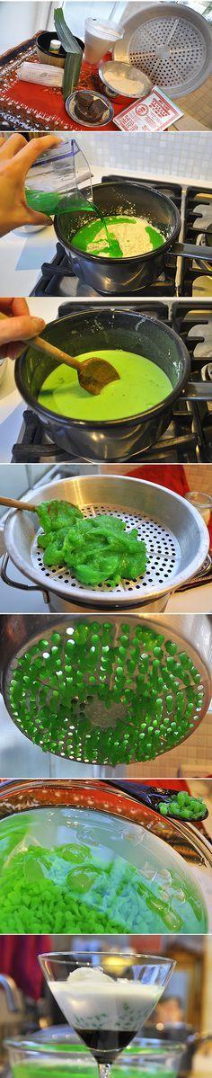 Love this Cendol Dawet recipe. Easy and enak! http://pisangsusu.com/cendol-dawet-indonesian-dessert/
