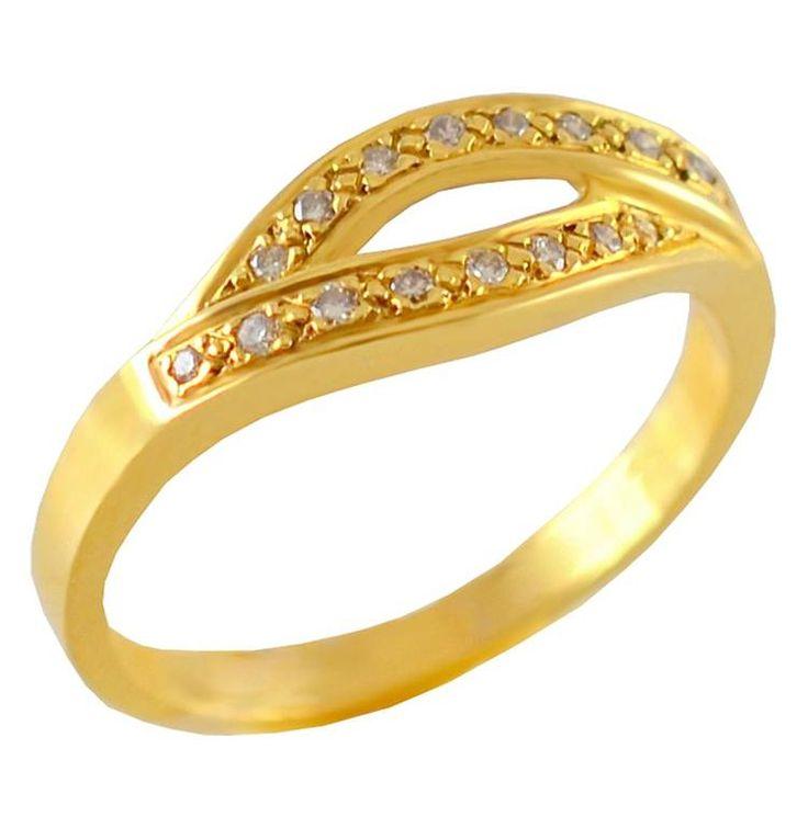 Δ173W -Χρυσό δαχτυλίδι με μπριγιάν