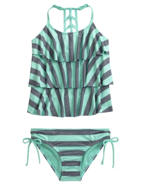 Stripe Tankini Swimsuit | Girls Swimsuits Swim Shop | Shop Justice